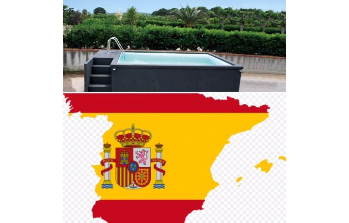 Espagne acheter piscine container 5M25x2M55x1M26