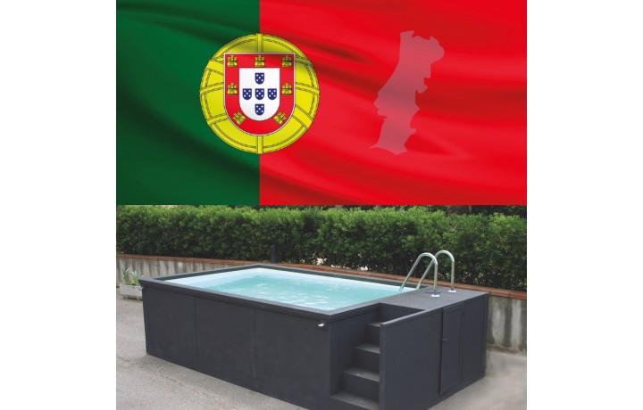 Portugal sans travaux piscine container 5M25x2M55x1M26