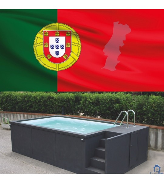 Portugal piscine container mobile 5M25x2M55x1M26