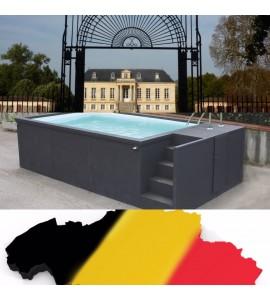 Container piscine 5M25x2M55x1M26 La Louvière Belgique
