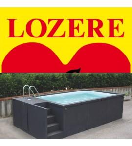 Luc (Lozère) Container piscine 5M25x2M55x1M26