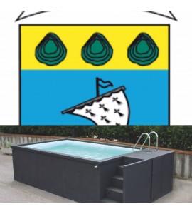 Morbihan (56) piscine container 5M25x2M55x1M26