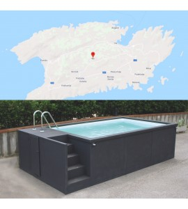 Ile de Vis en Croatie piscine container 5M25x2M55x1M26