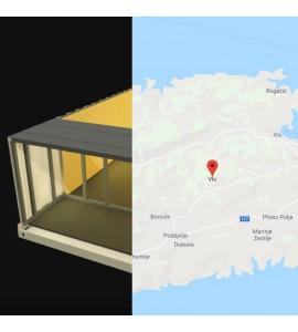 Piscine container 9Mx2M50x1M20 Ile de Vis en Croatie