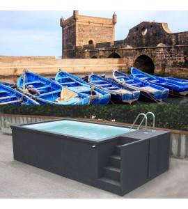 Container piscine mobile 5M25x2M55x1M26 Essaouira Maroc