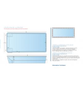 Libin 8M50x4M20x1M50 piscine rectangulaire (Belgique)