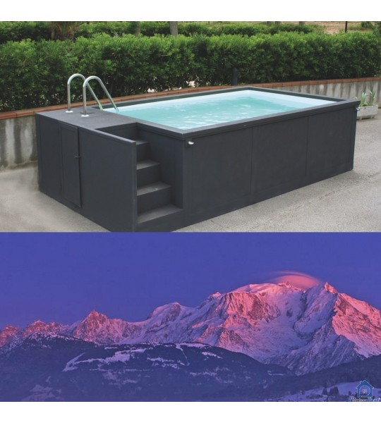 74920 Combloux Container piscine 1/2 enterrée 5M25x2M55x1M26