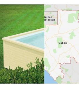 Libreville Gabon container piscine 5M25x2M55x1M26 Afrique centrale