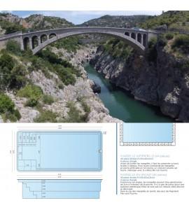 Bassin 6M70x3M20x1M50 fond plat Hérault