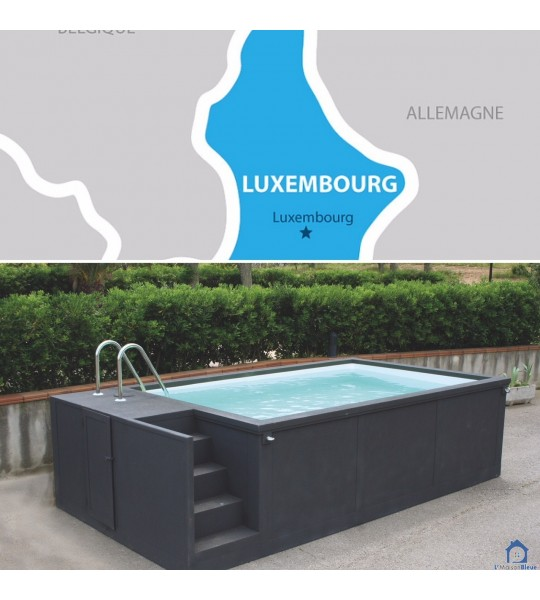Redange Luxembourg Container piscine mobile 5M25x2M55x1M26