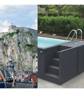 Container piscine 5M25x2M55x1M26 Camping Belgique (Professionnel)