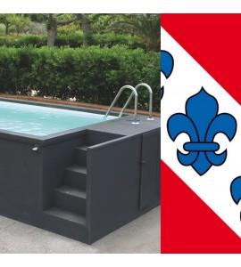 Gals sur Suisse (BE) container piscine sans travaux 5M25x2M55x1M26