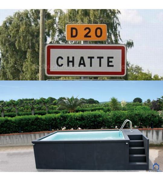 Container piscine 5M25x2M55x1M26 Chatte en Isère