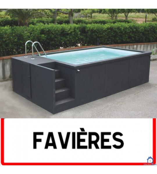 Favieres 80120 container piscine 5M25x2M55x1M26