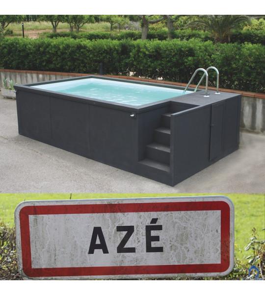 Aze dans le 71container piscine 5M25x2M55x1M26