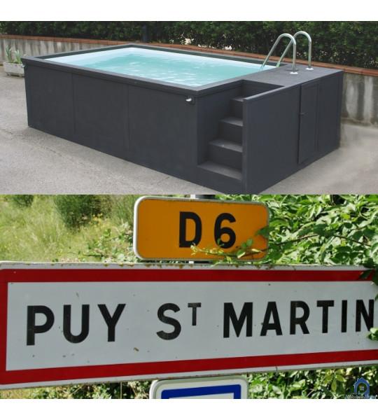 Puy-Saint-Martin piscine container 5M25x2M55x1M26 en Drôme