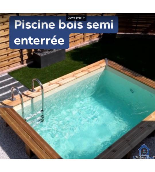Piscine bois semi enterrée 2M50x1M50x1M30 Lyon les Brotteaux (69006)
