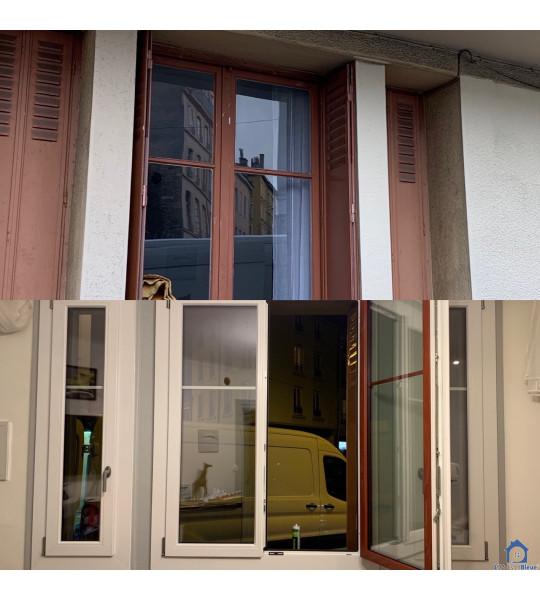 Changement des menuiseries rue Salomon Reinach 69007 Lyon