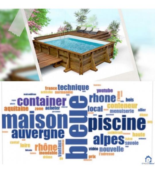 Montage piscine bois hors sol 7Mx3M50x1M30 rectangulaire