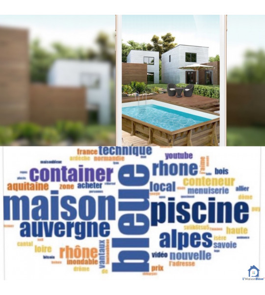 Piscine bois 8Mx4Mx1M30 rectangulaire