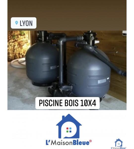 Kit Piscine bois 10Mx4Mx1M30 rectangulaire