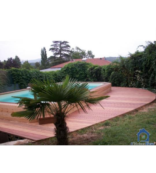 Montage piscine bois 6Mx4Mx1M30 rectangulaire