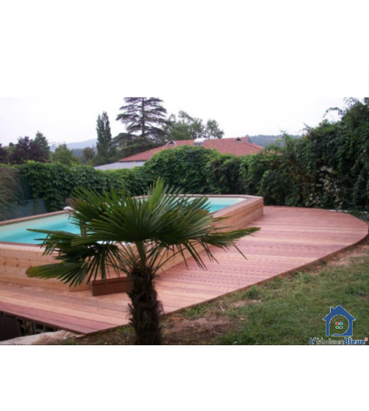 Kit piscine en bois 6Mx4Mx1M30 rectangulaire