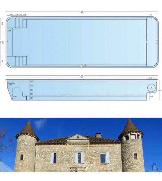 Bassin 11M10x3M60x1M50 (Lescure Jaoul 12440)