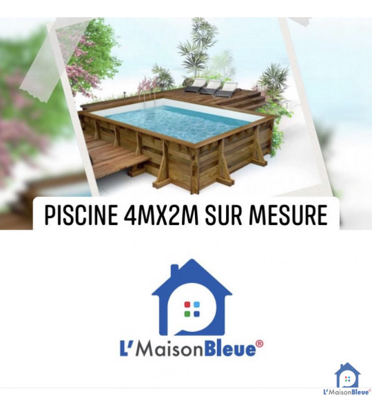 Piscine bois hors sol 4Mx2Mx1M30 Mandelieu (06210)