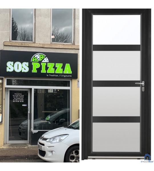 Transformation facade en aluminium SOS PIZZA 38290 La Verpilliere