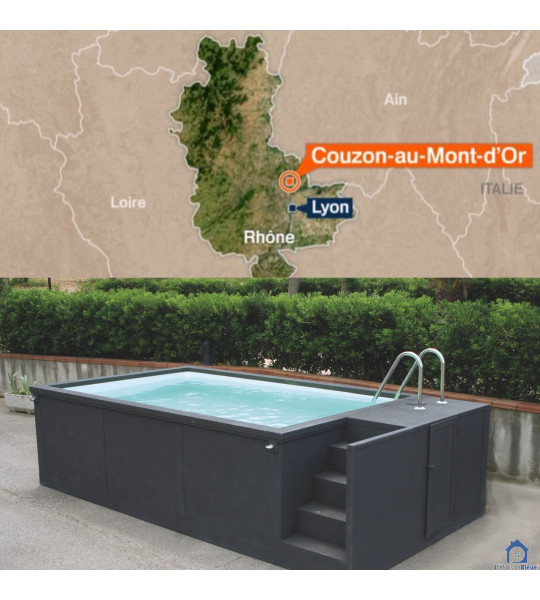 Couzon-au-Mont-d'Or (69270) Container piscine mobile 5M25x2M55x1M26