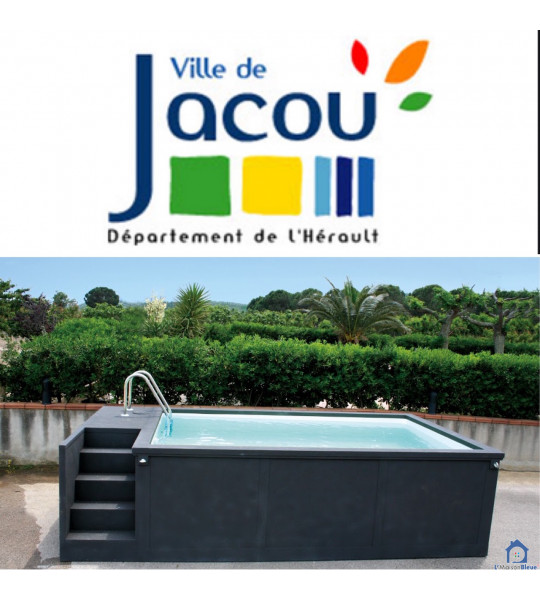 34830 JACOU Container piscine mobile 5M25x2M55x1M26