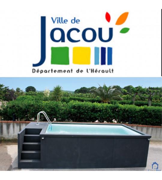 34830 JACOU Container piscine mobile 5M25x2M55x1M26