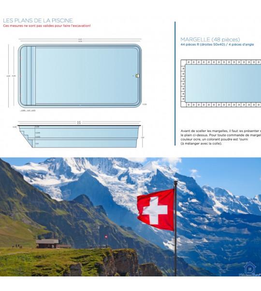Savigny (VD) Suisse 8Mx4Mx1M50 piscine rectangulaire