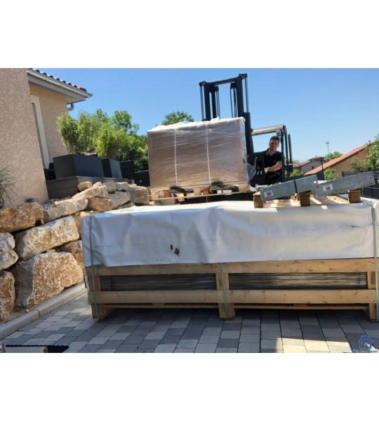 Piscine bois & coffre intégrés 6M20x2M50x1M33 (69400) Porte Des Pierres Dorées