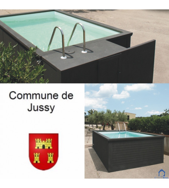 Jussy canton de Geneve container piscine 5M25x2M55x1M26