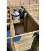 Piscine bois & coffre intégrés 6M20x2M50x1M33