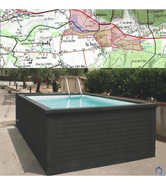 (74250) La Tour container piscine hors sol 5M25x2M55x1M26