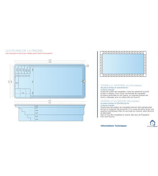 (42190) charlieu Bassin 6M70x3M20x1M50 fond plat