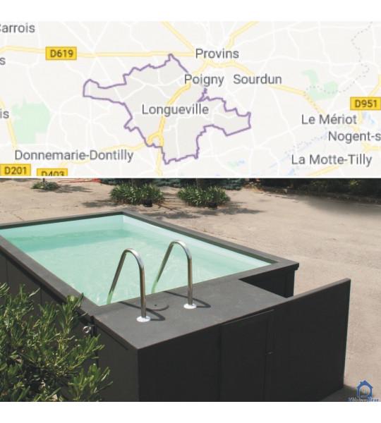(77650) Container piscine 5M25x2M55x1M26 livrée à Longueville