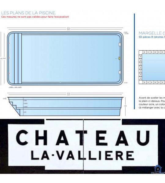 Coque piscine rectangulaire 9M50x4M20x1M50 Château-la-Vallière (37330)