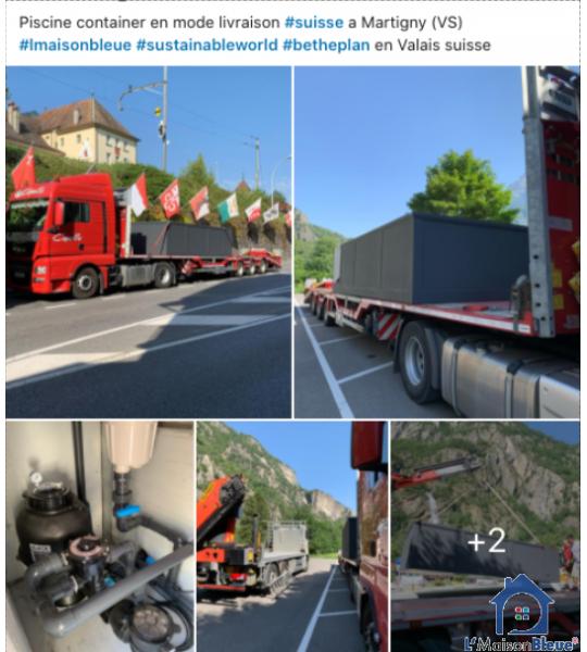 Destination Valais Suisse Container piscine 5M25x2M55x1M26