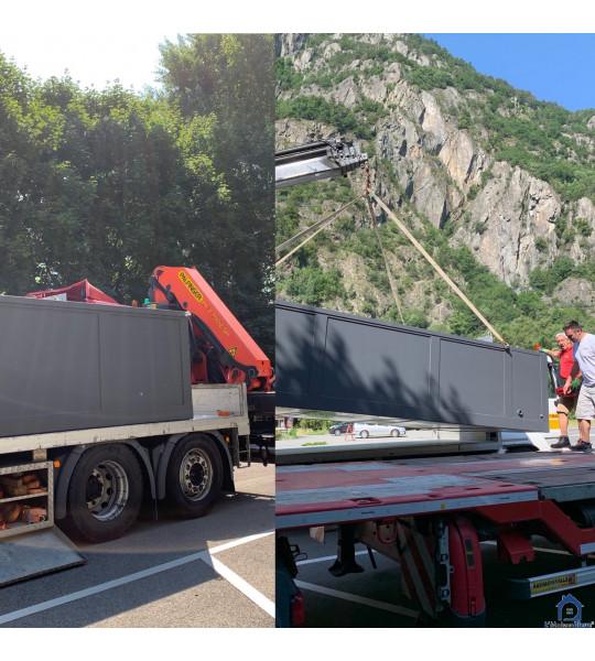 (38500) Installation container piscine 5M25x2M55x1M26 Voiron