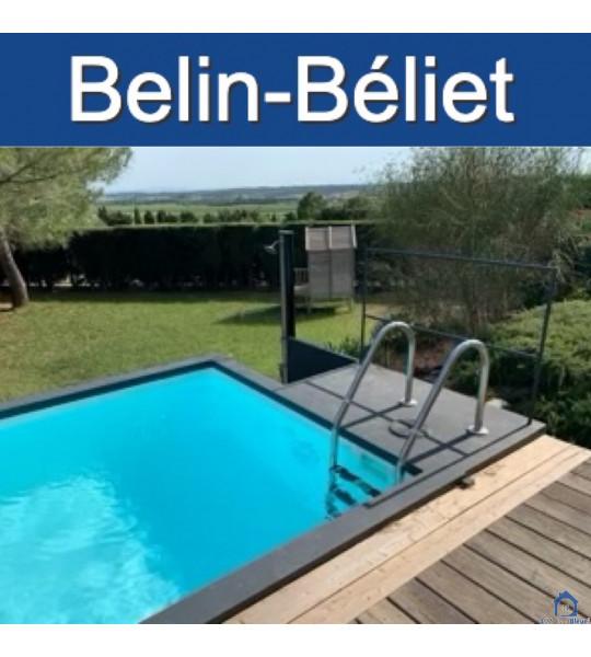 Livraison container piscine 5M25x2M55x1M26 (33830) Belin Bellet