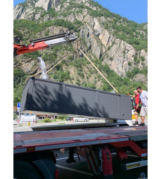Portugal piscine container mobile 5M25x2M55x1M26