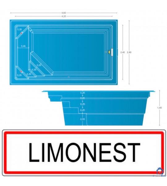Mini piscine coque de 10M2 _ 4M20x2M40x1M45 (69760) Limonest