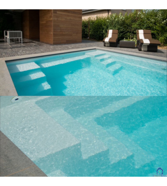 (71290 Rancy) Piscine 6Mx3Mx1M50 fond plat