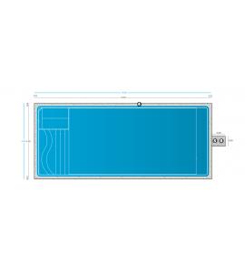 Piscine forme rectangle coque 10Mx4Mx1M50
