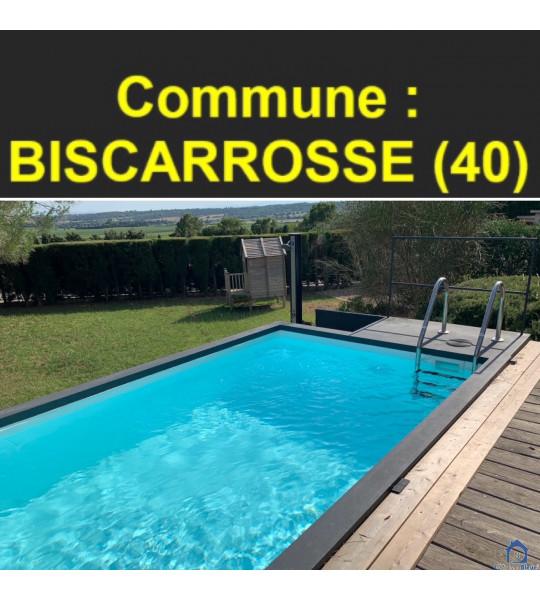 Piscine container sur pilotis 5M25x2M55x1M26 - (40600) Biscarrosse