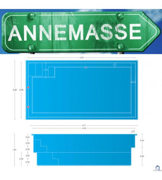 Piscine 4M44x2M25x1M45 (74100) Annemasse